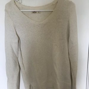 Hollister cream sweater